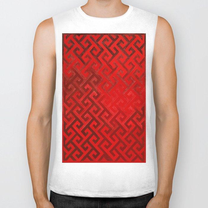 Celtic Pattern Red Biker Tank