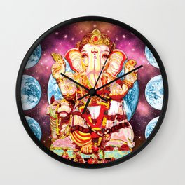 Galactic Ganesha Wall Clock