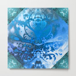 Meditating Entity (blue) Metal Print