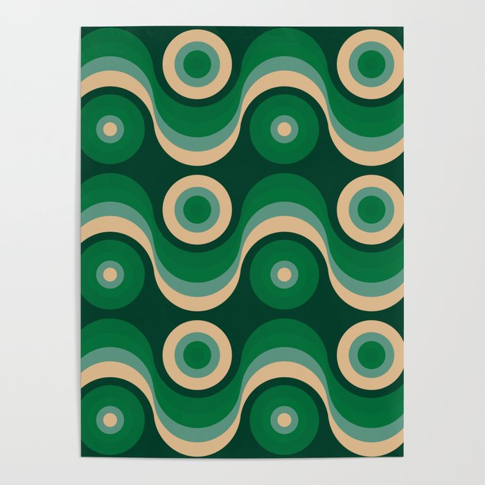 70s Optical Wallpaper Poster By Misterpattern