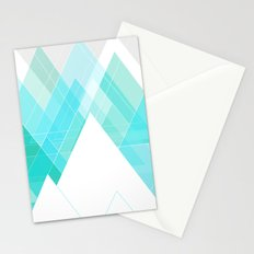 Icy Grey Mountains Stationery Cards