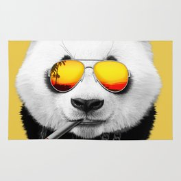 Summer Smoking Panda Rug