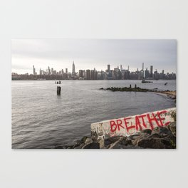 breathe and relax Canvas Print