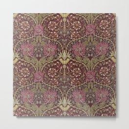 William Morris,Art Nouveau,Vintage pattern, floral victorian pattern, Metal Print