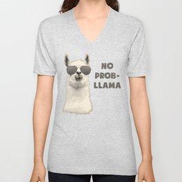 No Problamma Lamma Unisex V-Neck