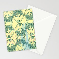Wolf Print Stationery Cards