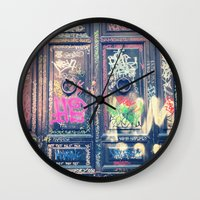 doors Wall Clocks featuring doors by dillon hesse