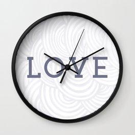 LOVE - Inspirational Minimalist Artwork - line Wall Clock