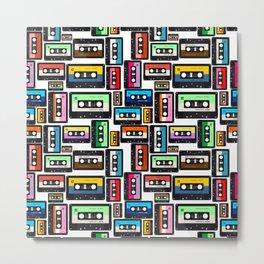 Cassette Vinyl Record  Metal Print