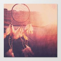 dream catcher Canvas Prints featuring Dream Catcher by Whitney Retter