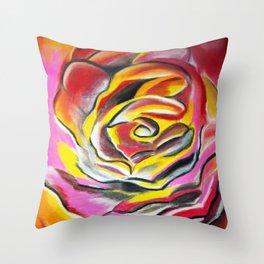 Rara's Rose Throw Pillow