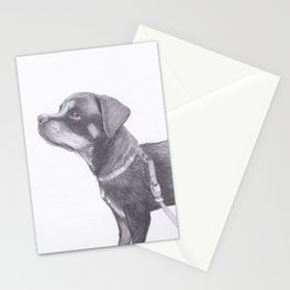 Rottweiler puppy Stationery Cards