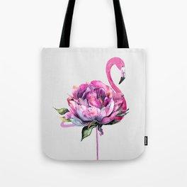 Flower Flamingo Tote Bag