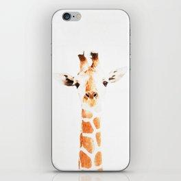 Giraffe watercolor iPhone Skin