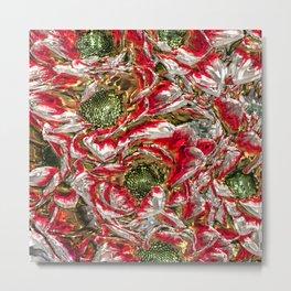 MetalArt Flowers red Metal Print
