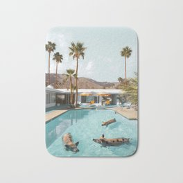 Pig Poolside Party Bath Mat