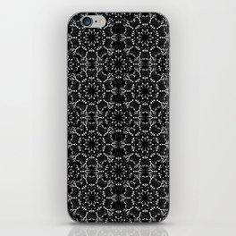 Black and White Mandala Lace iPhone Skin