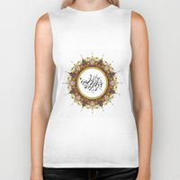 calligraphy Biker Tanks featuring Persian Calligraphy by BeyondPersia