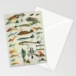 Fishing Lures Stationery Cards