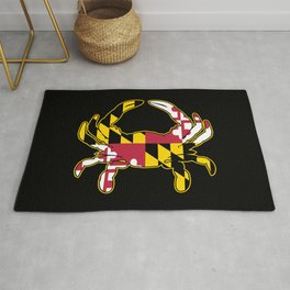 Maryland Flag Crab Rug