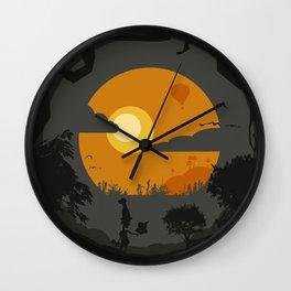 Spooky landscape Wall Clock