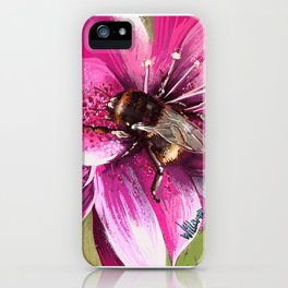 Bee on flower 13 iPhone Case