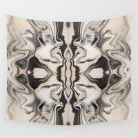 rorschach Wall Tapestries featuring Marbleized Rorschach by Renato Crepaldi