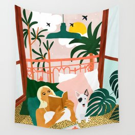 It doesn't matter where you're going, it's who you have beside you #painting #illustration Wall Tapestry