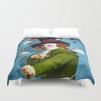 mad Duvet Covers featuring Mad Hatter by Diogo Verissimo
