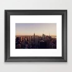 another Empire State Building shot | colored Framed Art Print