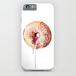 Pink Donut Sprinkles iPhone Case