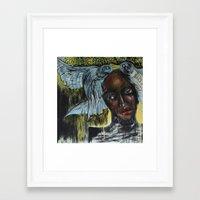 cabin pressure Framed Art Prints featuring Pressure by Chantal Poppy Elwood