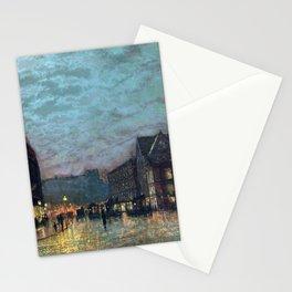 John Atkinson Grimshaw Boar Lane Leeds Lamplight Stationery Cards
