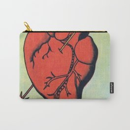 Vintage El Corazon Tarot Card Heart Love Artwork, Design For Prints, Posters, Bags, Tshirts, Carry-All Pouch