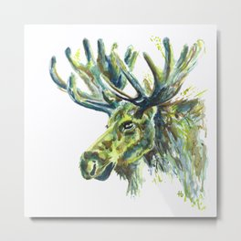 Teenage Mutant Ninja Moose Metal Print