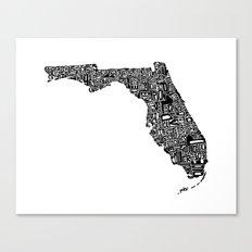 Typographic Florida Canvas Print