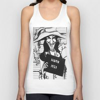 hook Tank Tops featuring Captain Hook by Gabrielle Wall