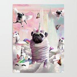 Pug Unicorn - Cute Funny Birthday Pugicorn Poster