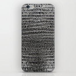 Silver Chain Maille iPhone Skin