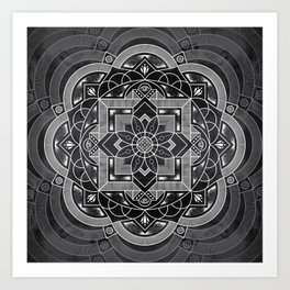 Composure Mandala Art Print
