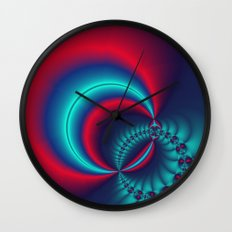 time for fractals -6- curtain Wall Clock