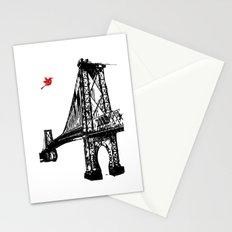 The Williamsburg Bridge in New York City Stationery Cards