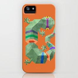 Polygonal gecko iPhone Case