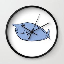 Unicorn fish illustration Wall Clock