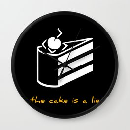The cake is a lie Wall Clock