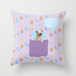 Sleepy boi Throw Pillow