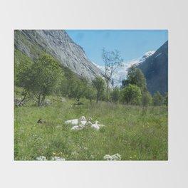 Norwegian Summer Idyll Throw Blanket