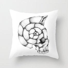 sea skull Throw Pillow