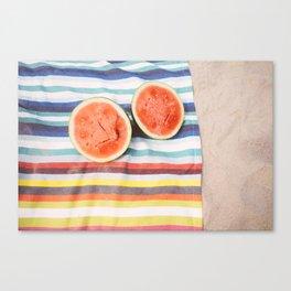 Beach Watermelon Canvas Print
