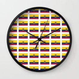 Flag of Ecuador 2- Ecuadorian,Kichwa,Inca,Guayaquil,Quito Wall Clock
